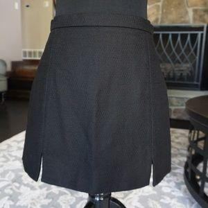 Topshop Black Waffle Texture Mini Skirt